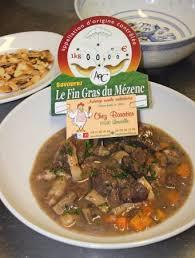 au f駑inin cuisine daube de bœuf au fin gras du mézenc picture of chez baratier