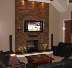 living room with stone fireplace caruba info
