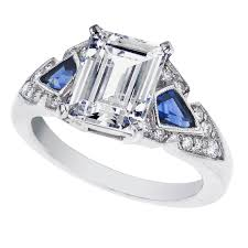 best of art deco sapphire engagement rings team 570