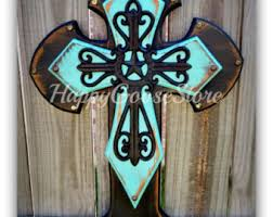 crosses for sale wall cross wood cross medium leopard antiqued