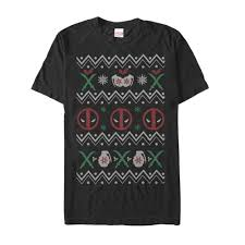 fifthsun rakuten marvel deadpool ugly christmas sweater mens