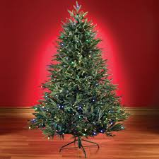 the 6 foot battery operated prelit fraser fir hammacher schlemmer