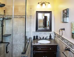 Bathroom With Bronze Fixtures Earth Toned Vanity With Rubbed Bronze Fixtures Traditional