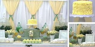 green baby shower decorations green lemon white bird cage baby shower party ideas