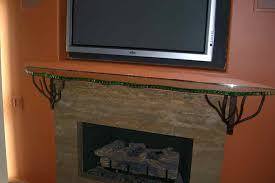 wrought iron fireplace mantel supports ideas