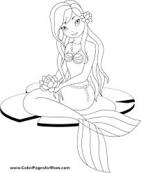 swimming mermaid coloring pages for adults u2013 vonsurroquen