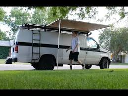 Rv Retractable Awnings Van Awning And Shower Youtube