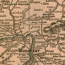Vintage Map Austria Hungary Antique Vintage Map 1908 Gallup Map