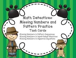 pattern practice games missing numbers and pattern practice task cards by the fourth grade