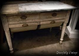 antique bakers table with flour bins i want dream home pinterest