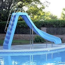 fiberglass pool with water slide and private tub cleveland