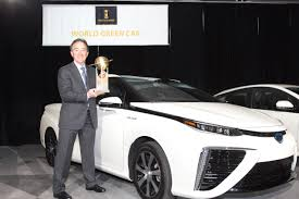 toyota auto car toyota mirai fcv declared 2016 world green car