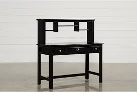 Black Student Desk With Hutch Summit Black Desk Hutch Living Spaces