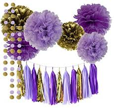 lavender baby shower decorations qian s party purple lavender glitter gold baby shower