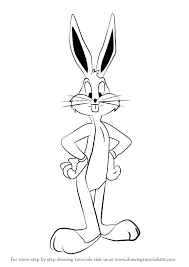 learn draw bugs bunny looney tunes looney tunes step