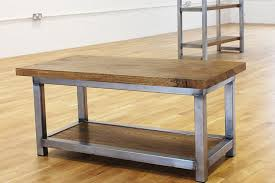 Buy Coffee Table Uk Wadsworth Industrial Coffee Table Russell Oak And Steel Ltd