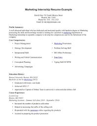 Computer Science Resume No Experience Marketing Major Resume Objective Internship Sample With No