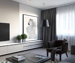 One Bedroom Apartment Design Spacious Looking One Bedroom Apartment With Dark Wood Accents
