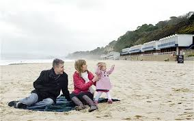 Matthew and Philippa Field with their daughter  Sophie  in Bournemouth The Telegraph