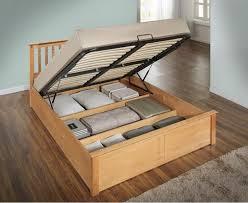 kensington oak finished ottoman storage bed frame