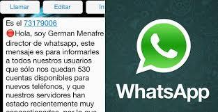 hola imagenes whatsapp el mensaje de whatsapp de german menafre un timo o estafa