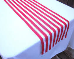 red and white table runner red and white stripe table runner circus party pirate party