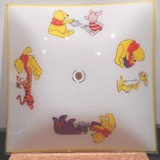 vintage winnie the pooh ceiling light shade 13 3 4 square 1 8