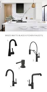 Brizo Solna Kitchen Faucet by Shopping For Matte Black Modern Kitchen Faucets Anne Sage