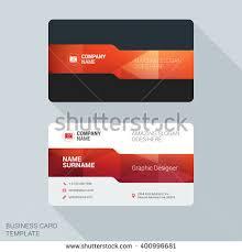 Flat Design Business Card Modern Creative Business Card Template Flat Stock Vector 400996681
