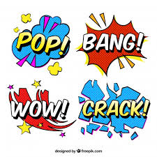 word design word stickers with pop design vector free
