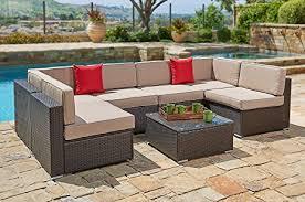 amazon com suncrown outdoor furniture sectional sofa set 7