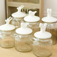 kitchen accessories two clear glass decorative canisters kitchen