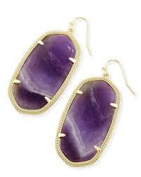 danielle gold statement earrings in amethyst kendra scott