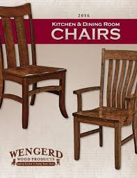 Amish Chair 2016 Wengerd Wood Products Catalog Dining Chairs E U0026 G Amish