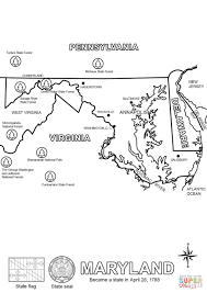Alaska State Flag Coloring Page Maryland State Map Coloring Page Free Printable Coloring Maryland