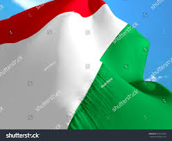 Flag That Is Green White And Red Hungary Flag 3d Waving Flag Design Stock Illustration 703722592