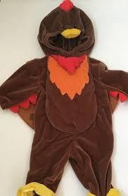 miniwear baby turkey costume 3 6m brown fleece hooded thanksgiving