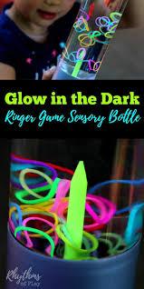 DIY Glow in the Dark Ringer Game Sensory Bottle  Rhythms of Play