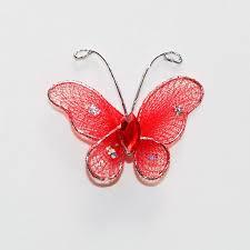 organza glitter butterflies 1 inch 12 www