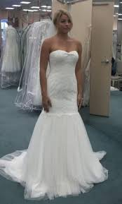 davids bridal wedding dresses david s bridal strapless lace trumpet with tulle skirt 350 size