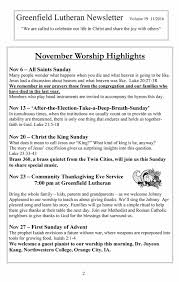 what is thanksgiving all about november newsleter