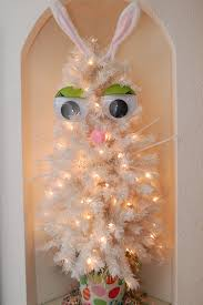 easter ornament tree turn your white tree into an adorable easter bunny