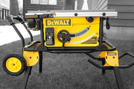 dewalt table saw review dewalt job site table saw review dwe 7491 tools in action power