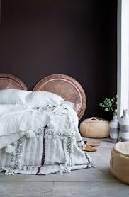 bedroom romantic bedroom soft bedding copper dishes decorative