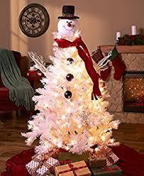 frosty snowman top hat tree topper decor