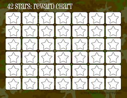 camo rewards charts 42 stars free printable downloads from