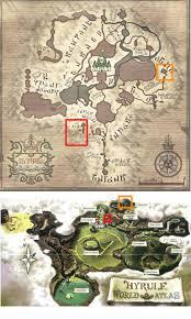Skyward Sword Map Hyrule U0027s Geography Theorizing Zelda Universe Forums