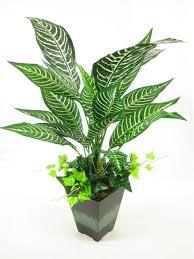56cm potted artificial silk saffron spike zebra plant artificial