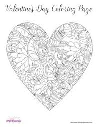 free valentines coloring pages perfect class