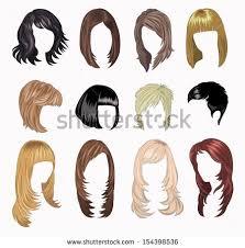 full set woman hair styling stock vector 154398536 shutterstock